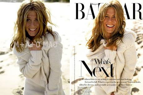 Jennifer Aniston Bazar Magazine Before and After