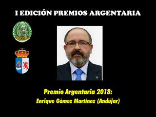 Premio Argentaria 2018 a Enrique Gómez Martínez