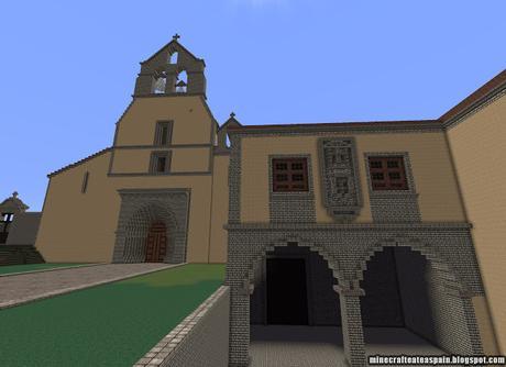 Réplica Minecraft del Monasterio de Santa María la Real de Obona, Asturias, España.