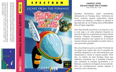 Las navecitas de Sega visitan el Spectrum en 'Fantasy Zone Escape From the Pyramid'