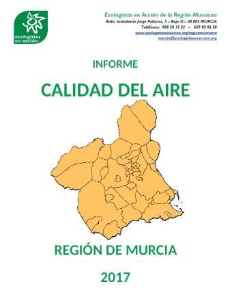 Informe de Ecologistas en Acción: La calidad del aire en la Región de Murcia durante 2017