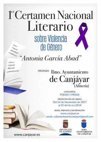 """I certamen literario sobre violencia de género """"Antonia García Abad"""""""