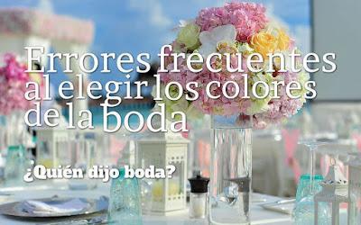 Errores frecuentes al elegir los colores de la boda