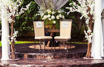 Deco de boda monocolor