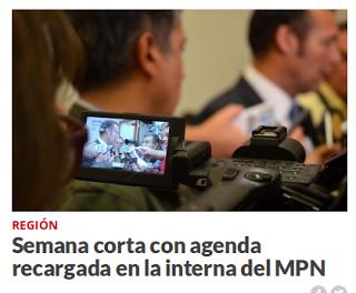 Semana corta con agenda recargada en la interna del MPN