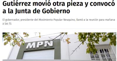 Gutiérrez movió otra pieza y convocó a la Junta de Gobierno