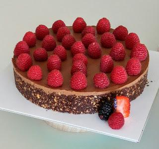 Cheesecake de Chocolate Vegano con Frambuesas