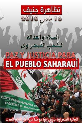 La sociedad civil saharaui en Europa invita a participar en la manifestación que se organizará en Ginebra (Suiza)