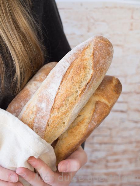 Barras de pan con aceite de oliva. Vídeo Receta