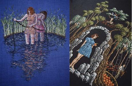 Michelle Kingdon: el arte del bordado