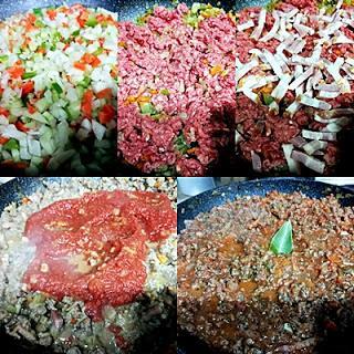 Lasaña de carne a la boloñesa