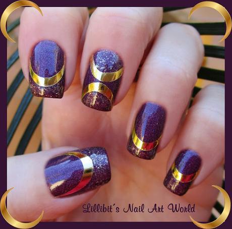 Medias lunas doradas de foil Milvart F88