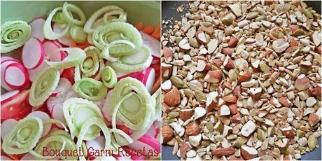 Ensalada fresca de la huerta con limoneta de cilantro