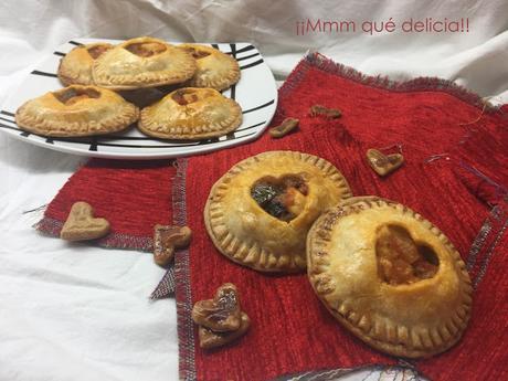 MINI-EMPANADAS DE PISTO Y POLLO PARA SAN VALENTÍN