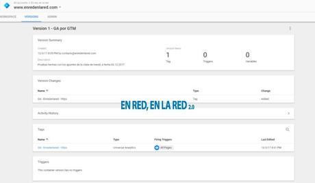Comprobando que nuestro tag está bien publicado en Google Tag Manager