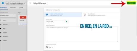 Publicando un Tag en Google Tag Manager