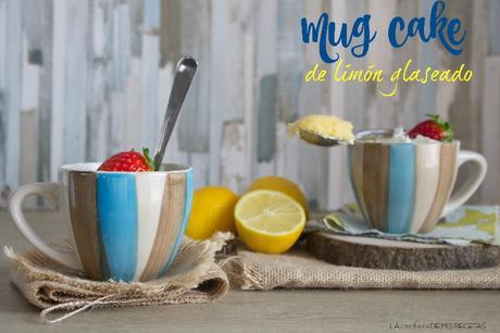 Mug cake de limón glaseado