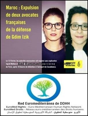 Amnistía Internacional y EuroMed Rights condenan la expulsión de las abogadas de la defensa de los presos políticos saharauis