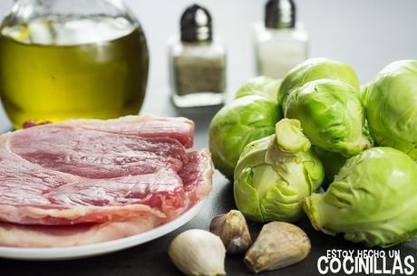 Receta de coles de bruselas con jamón