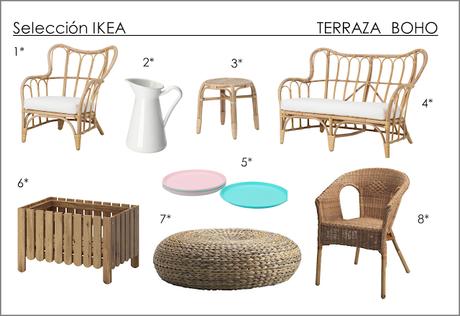 Terraza decorada con muebles, textiles y accesorios de ... - photo#28