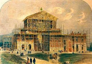 Construcción de la Festspeilhaus.