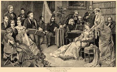 Festejo en casa de los Wagner tras la finalización de la tetralogía.
