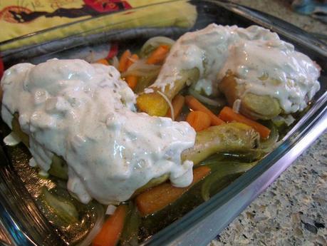 Muslos de pollo con yogur y especias