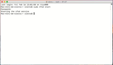 Montar carpetas NAS Synology por NFS en Mac.