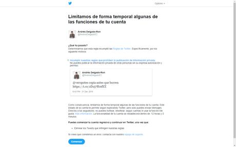 Twitter me bloqueó porque Orlando Pérez