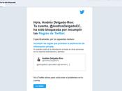Twitter bloqueó porque Orlando Pérez