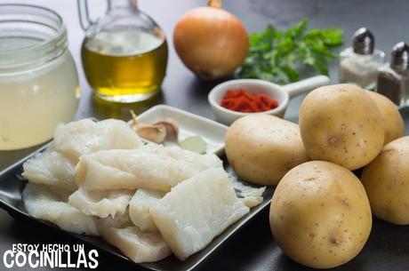 Receta de guiso patatas con bacalao