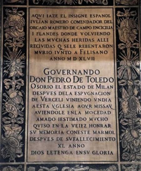 """El Maestre de Campo Sir Julián Romero """"El de las Hazañas"""""""