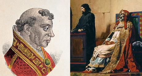 El papa Formoso y una representación del Juicio del Cadáver