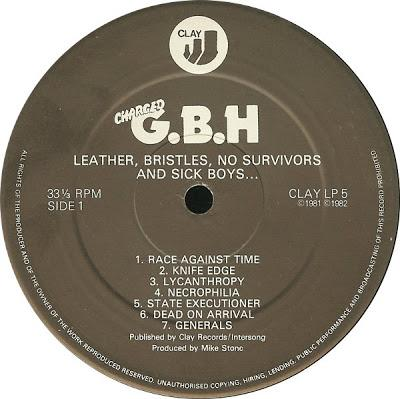 GBH -Leather bristles, No survivors and sick boys Lp 1983