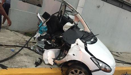 Una persona muerta en accidente en Av. Núñez de Cáceres Santo Domingo.