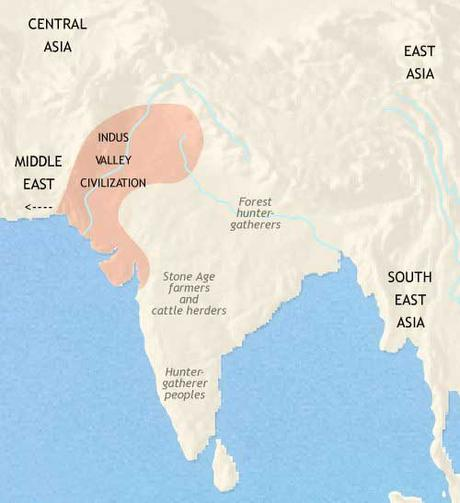 Mapa de la civilización del Indo