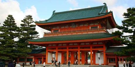 Santuario de Heian en Japón