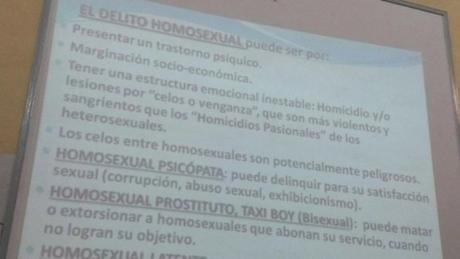 Profesora homofóbica en la Universidad de Buenos Aires.