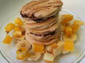 Tortitas rellenas fitnutella plátano
