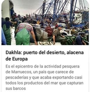 Carta enviada al Faro de Vigo en relación al articulo publicado sobre la pesca en Dajla – Sahara Occidental
