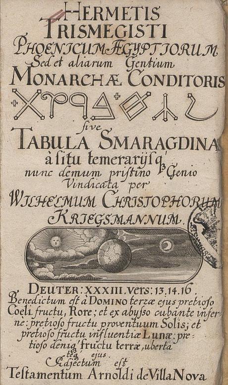 Este es el texto traducido de la Tabla Esmeralda: La última fuente de la Alquimia