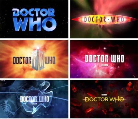 1963 - 2018. Los logos de Doctor Who