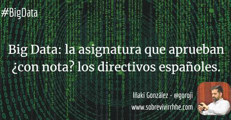 Big Data: la asignatura que aprueban ¿con nota? los directivos españoles.