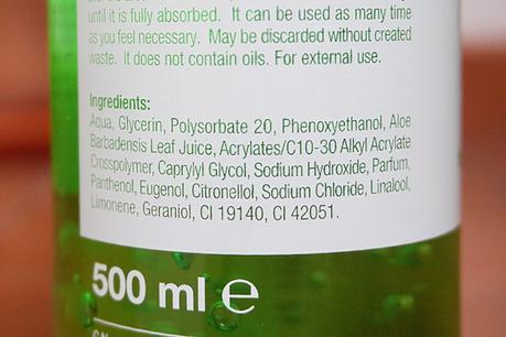 Gel hidratante de aloe vera de Interapothek