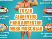 Infografía: mejores alimentos para ganar masa muscular