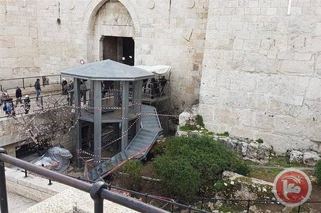 Combatiendo el terror: Israel construye nuevo puesto de control en la Puerta de Damasco.