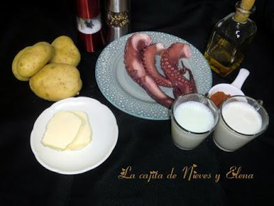 Parmentier con pulpo a la plancha y aceite de pimentón by Antonio Arrabal