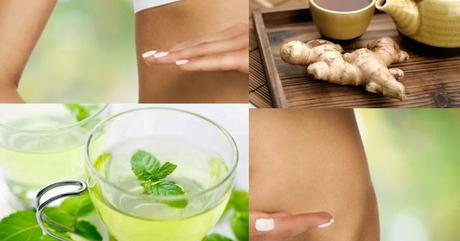 Bebida para activar el metabolismo con jengibre y menta