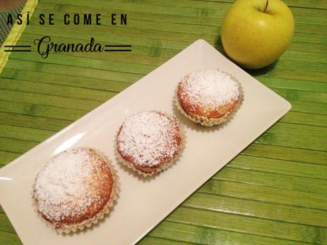 Muffins de manzana sin gluten