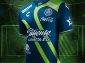 Tercera camiseta azul verde Puebla, 2018